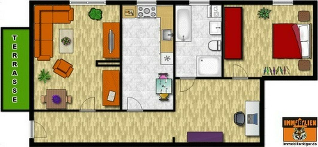 Bild 2: 2,0-Zimmerwohnung mit Balkon und Gartennutzung!