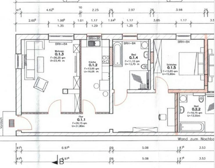 Bild 3: 2,0-Zimmerwohnung mit Balkon und Gartennutzung!