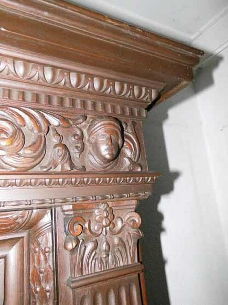 Bild 5: Antiker Bücherschrank Eiche / Schrank mit Löwe