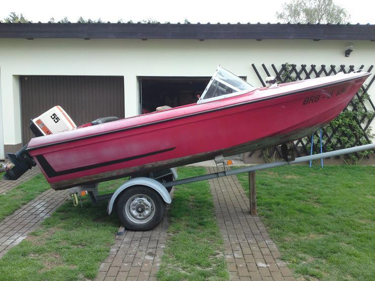 motorboot merlin 460x170 mit au enborder 55 ps in kloster. Black Bedroom Furniture Sets. Home Design Ideas