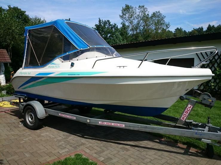 Kajütboot Olympia 560x210cm Außenborder 50 PS