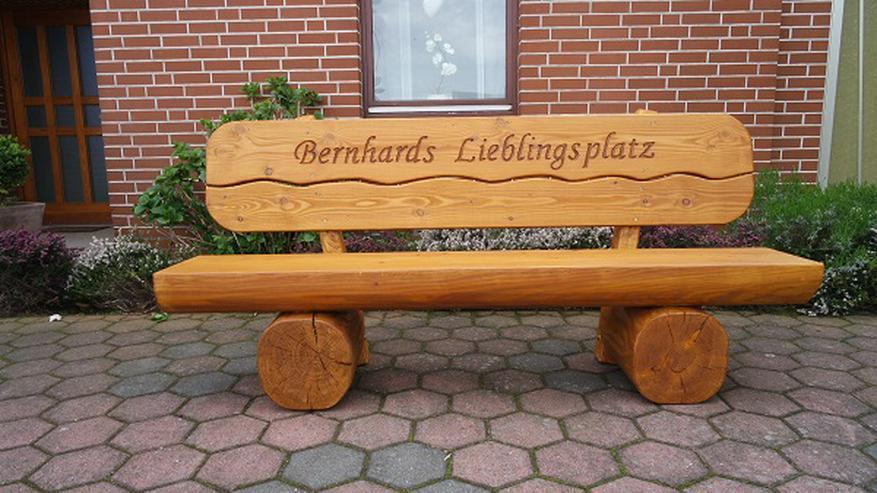 Bild 3: Holzbank mit Gravur .Gartenbank.Terassenbank. .