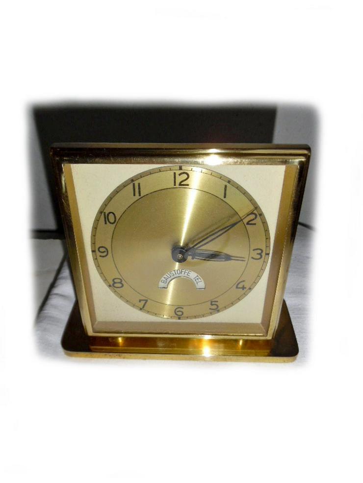 Schöne goldene Werbeuhr - ca. Jahr 1950 - Uhren - Bild 1