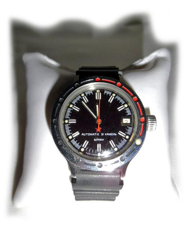 Selten schwarze Armbanduhr von Wostok - Herren Armbanduhren - Bild 1