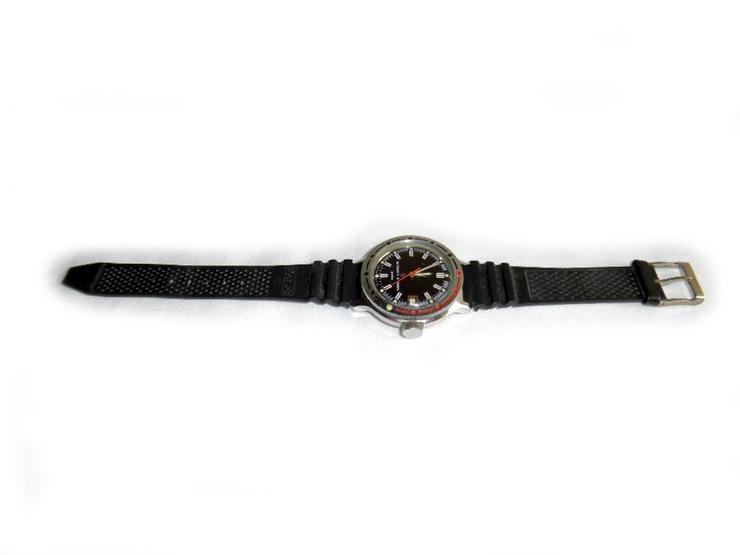 Bild 2: Selten schwarze Armbanduhr von Wostok