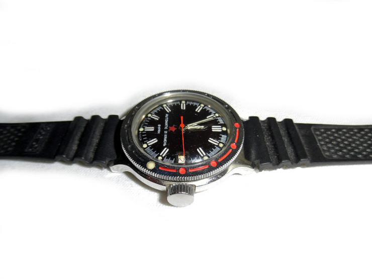 Bild 3: Selten schwarze Armbanduhr von Wostok