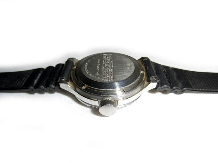 Bild 5: Selten schwarze Armbanduhr von Wostok