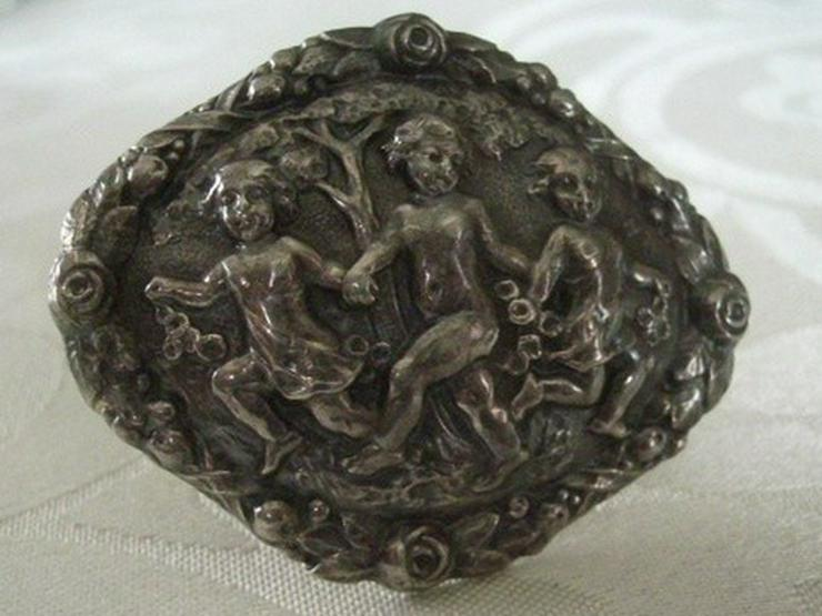 antike Silberbrosche, ca. 1850-1900, 800er Ag