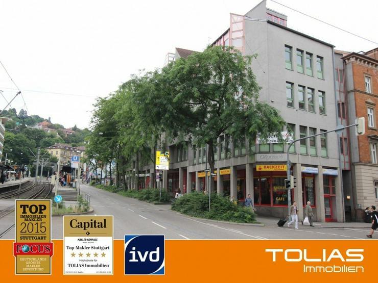 Stadtmitte am Olgaeck: Ladenfläche direkt an der U-Bahn - 2 TG-Stellplätze - Rendite ca.... - Gewerbeimmobilie kaufen - Bild 1