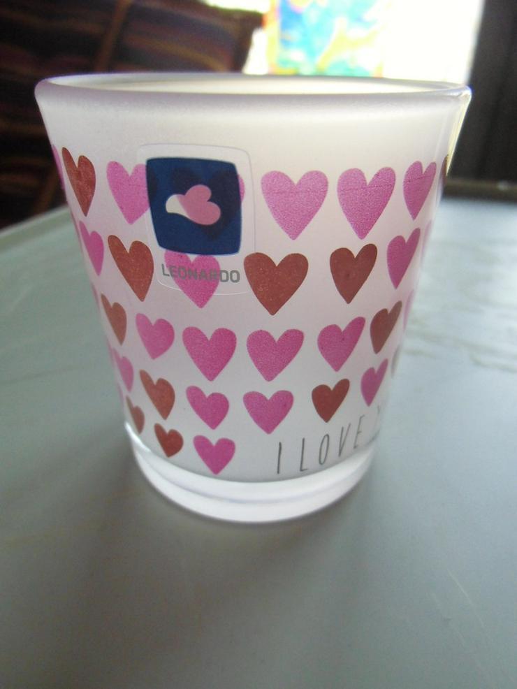 2 Kerzenhalter mit Herzen und Muster - Bild 1