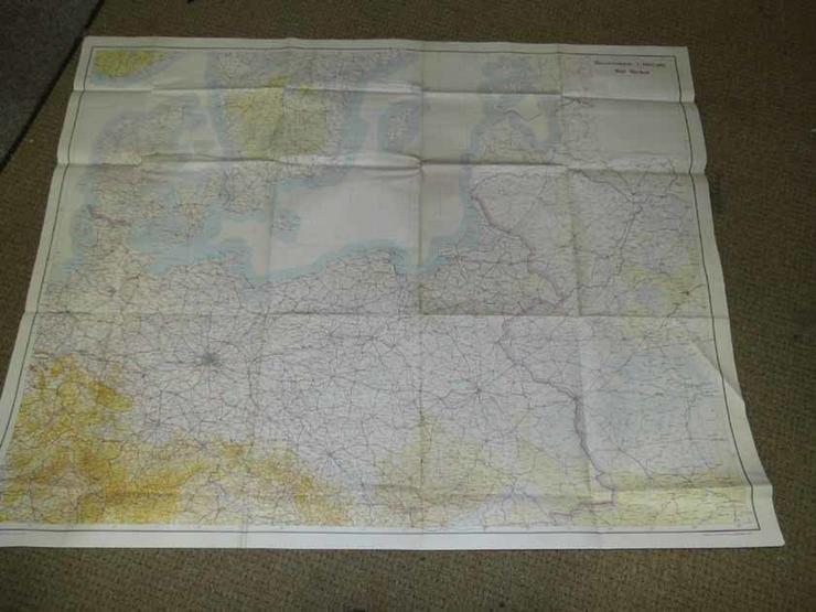 Landkarte Deutschland Nordost / 3. Reich / WW