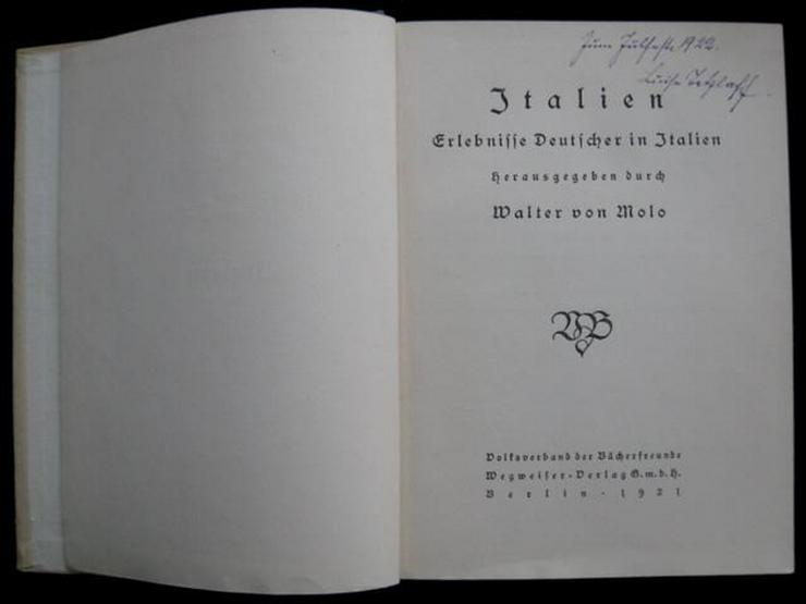 Bild 2: Walter von Molo - Italien (von 1921)
