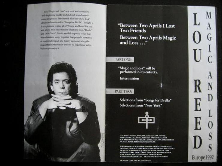 Bild 2: Lou Reed - Magic And Loss - Tour 1992