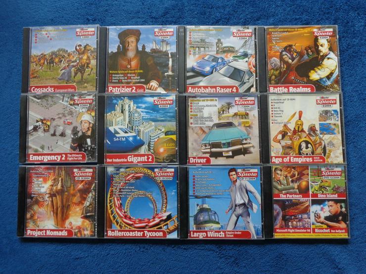 Komplette Computerbildspiele CD Sammlung 2004