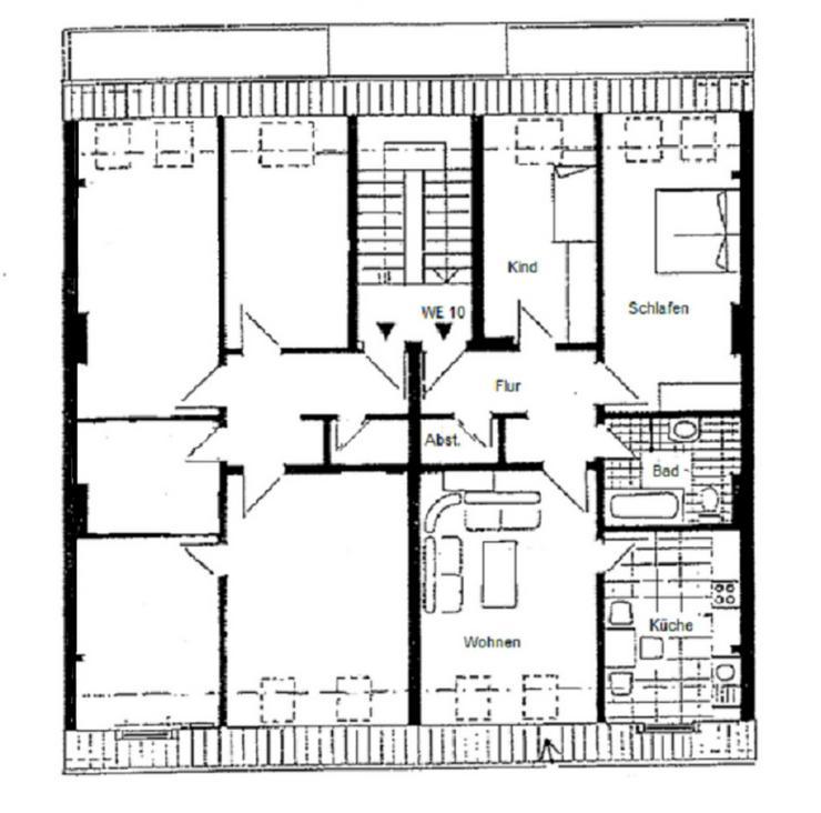 Bild 3: < 2 Monate mietfrei < GÖRLITZ - 3 Zimmmerwohnung im Dachgeschoss in ruhiger Seitenstraße