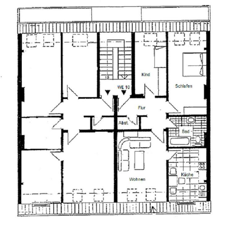 Bild 2: < 2 Monate mietfrei < GÖRLITZ - 3 Zimmmerwohnung im Dachgeschoss in ruhiger Seitenstraße