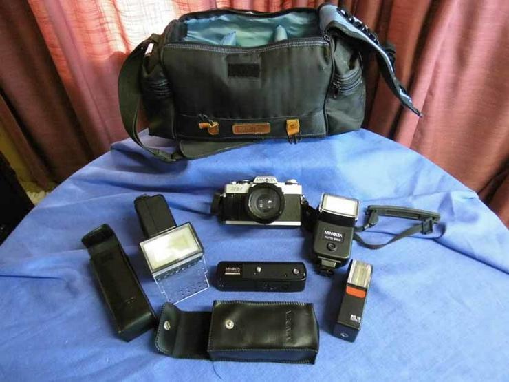 Minolta XG1 Spiegelreflexkamera mit viel Zubeh