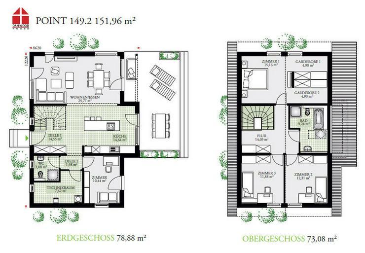 Bild 3: Fertighaus Eigenheim zum Träumen bezugsfertig