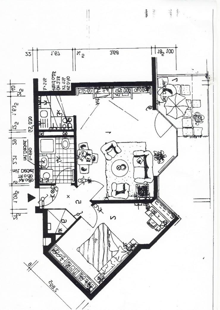 Bild 2: KAPITALANLAGE - schicke 2 Raumwohnung im Erdgeschoss mit Terrasse in Leipzig- Paunsdorf