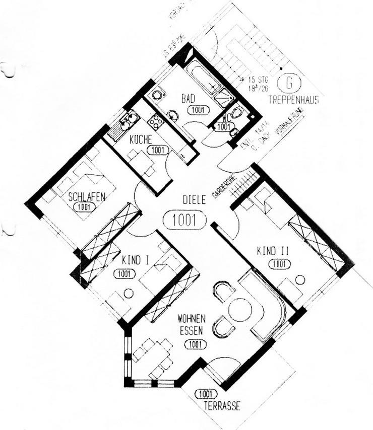 Bild 5: KAPITALANLAGE - 4 Raumwohnung im Erdgeschoss mit Terrasse in Zwintschöna zu verkaufen