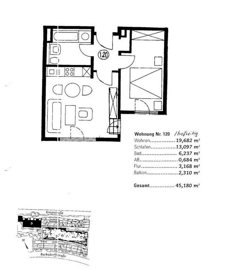 Bild 5: KAPITALANLAGE - kleine gemütliche 2 Zimmerwohnung mit Einbauküche und TG Stellplatz zu v...