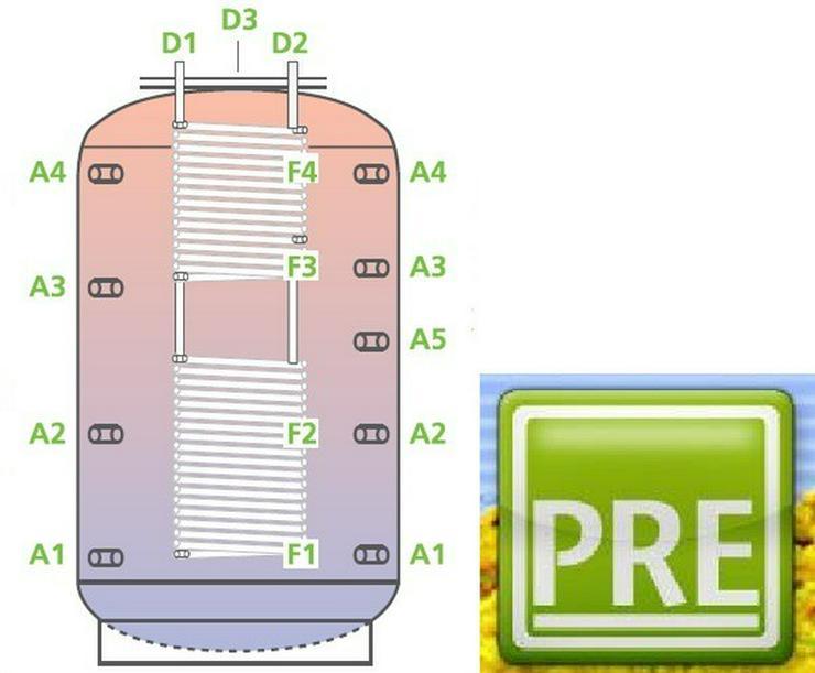 PRE Kombispeicher 1500 L 1 WT. prehalle - Durchlauferhitzer & Wasserspeicher - Bild 1