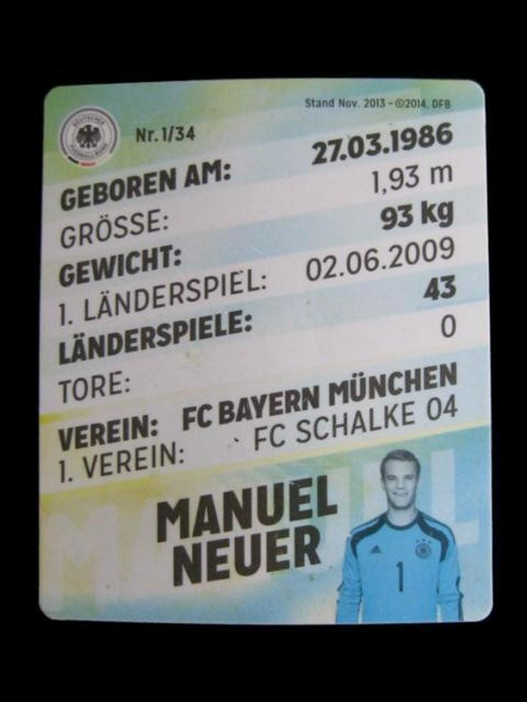 Bild 2: Manuel Neuer - Offizielle DFB Sammelkarte 2014
