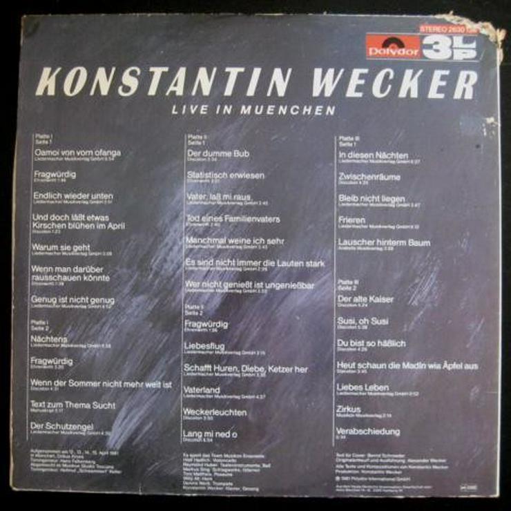 Bild 3: Konstantin Wecker - Live In München - 3er-LP