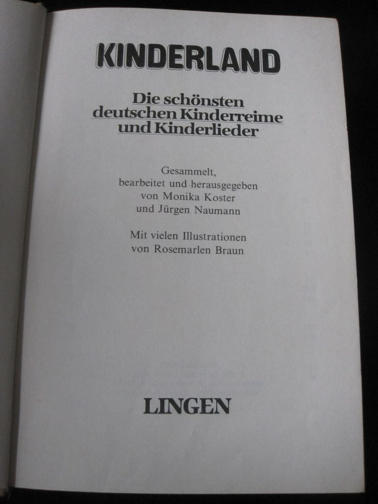 Kinderland Die schönsten deutschen Kinderreime