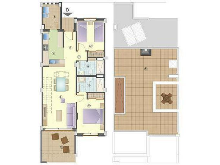 Bild 3: Moderne Obergeschoss-Wohnungen mit Gemeinschaftspool