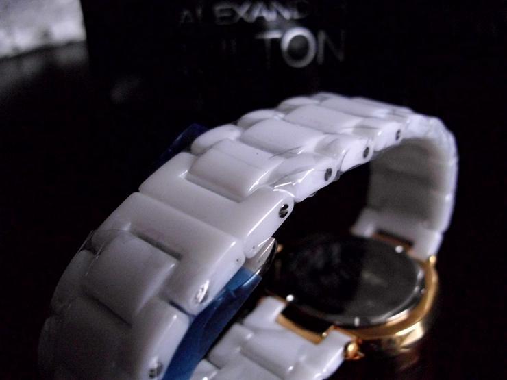 Bild 3: Keramik-Armbanduhr  weiß  ALEXANDER MILTON