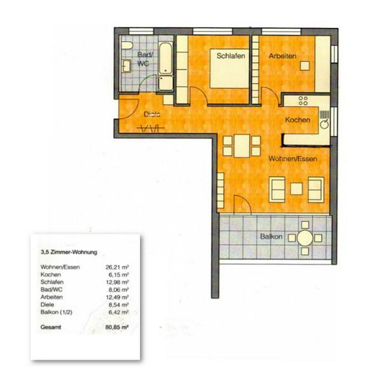 Bild 4: Schöne Etagenwohnung in gehobener Wohngegend