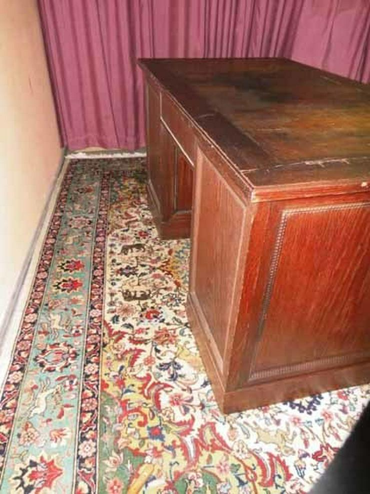 Antiker Schreibtisch / teilmassiv Eichenfurnie - Tische - Bild 1
