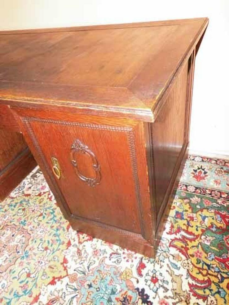 Bild 4: Antiker Schreibtisch / teilmassiv Eichenfurnie