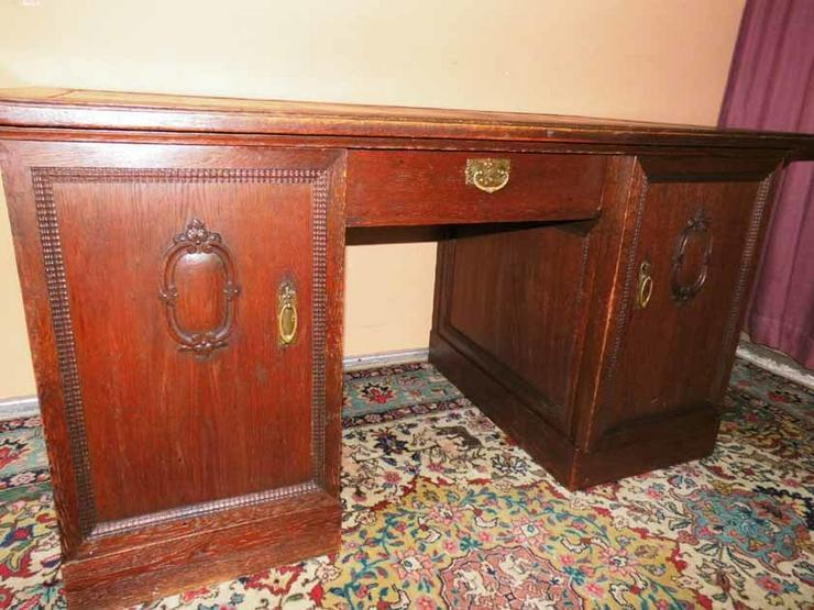 Bild 6: Antiker Schreibtisch / teilmassiv Eichenfurnie
