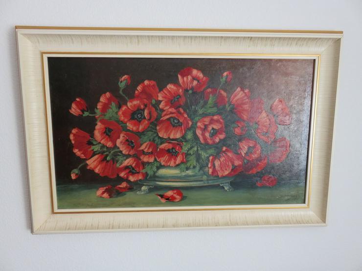 Ölgemälde stillleben mohnblumen 1936 - Gemälde & Zeichnungen - Bild 1