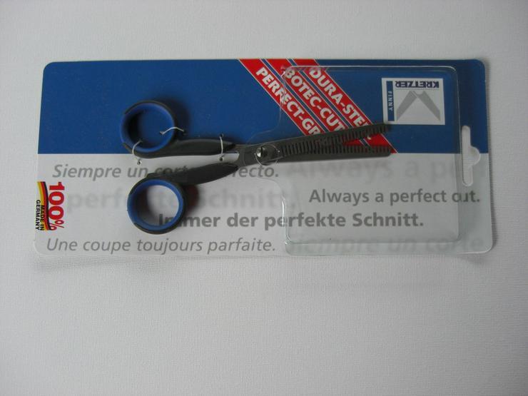 Effilierschere 15/6 cm rostfrei beide Schneid - Fellpflege - Bild 1
