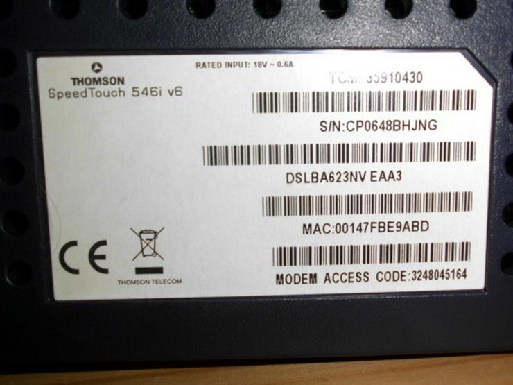 Bild 4: Speedtouch DSL Router