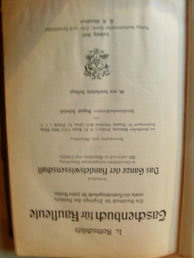 Bild 2: Rothschild's Taschenbuch für Kaufleute