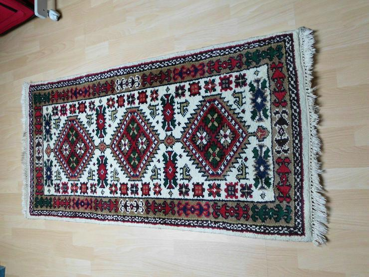 Bild 2: Heller Teppich 140 x 73 cm