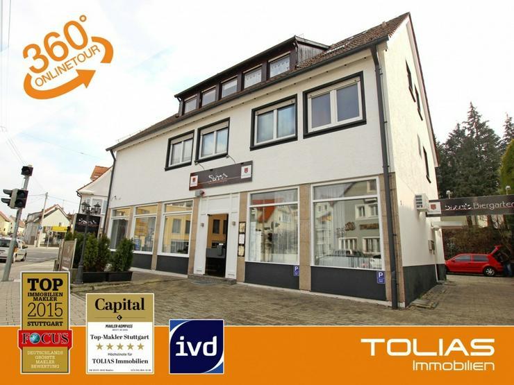 Top-gepflegtes Restaurant mit Wohnung, im Zentrum von S-Plieningen. - Gewerbeimmobilie mieten - Bild 1
