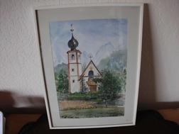 Gemälde -Kirche- von H. Schmuck