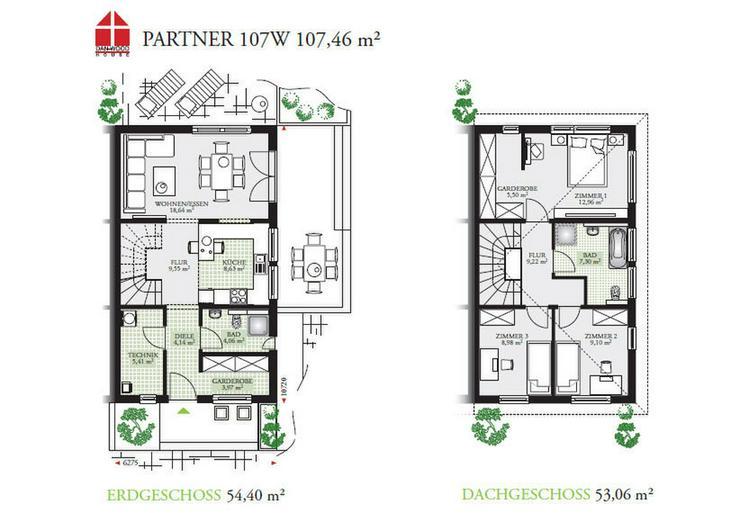 Bild 3: Fertighaus Doppelhaus Top! bezugsfertig