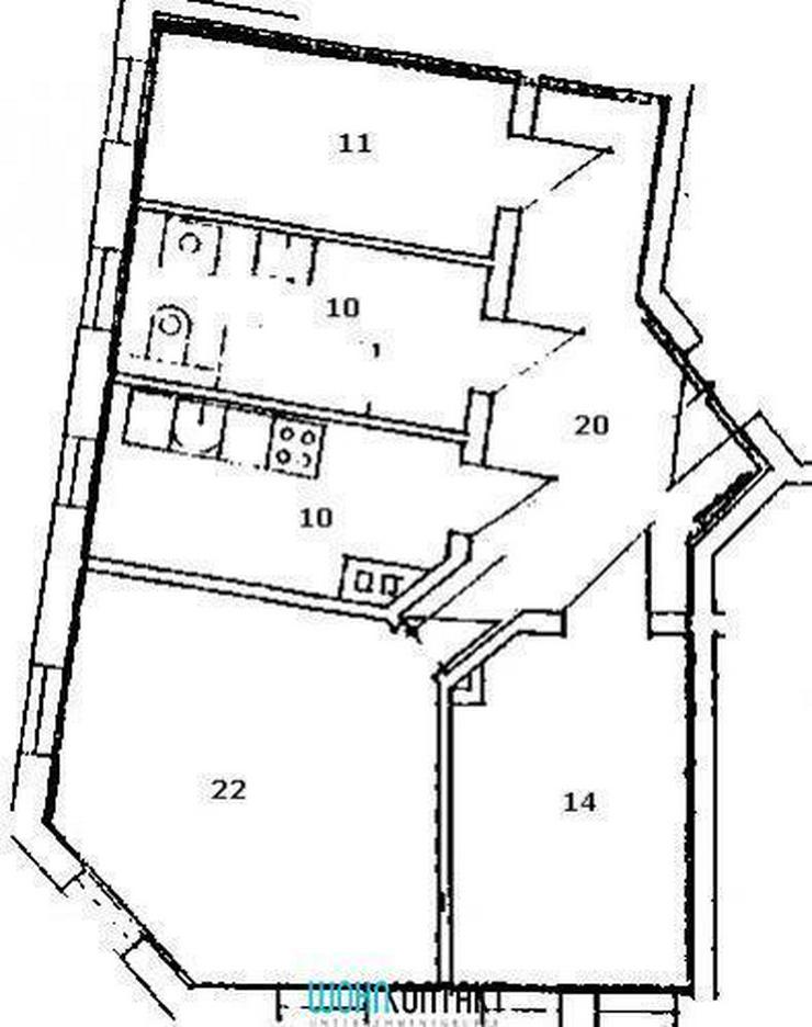 Bild 2: Fantastisch große 3-Zimmer-Wohnung mit EBK & Parkett * frisch saniert *