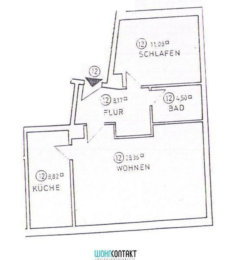 Bild 2: ** Dachgeschosswohnung * 2-Zimmer * EBK * Parkett *