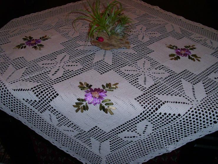 Wunderschöne Mitteldecke 85 x 95 cm - Tischtücher & Servietten - Bild 1