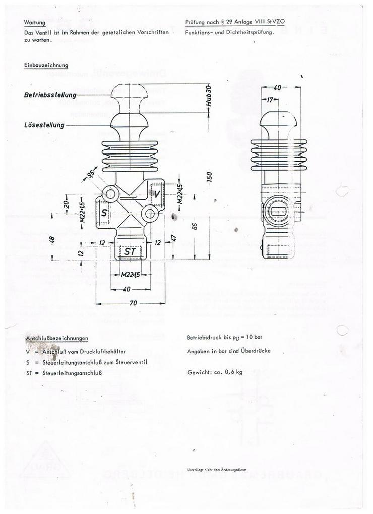 Bild 6: Dreiwegeventil Grau Bremse 352 006 501