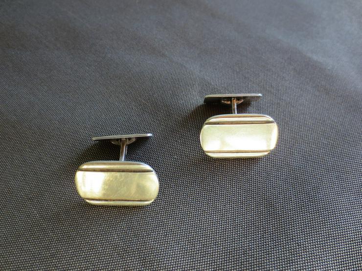 Manschetten Knöpfe, 800 Silber, Vergoldet
