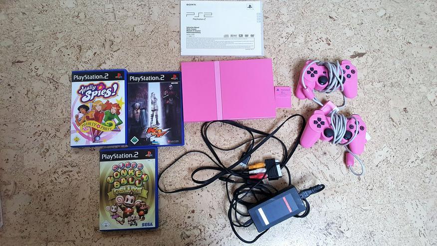 PlayStation Slim Pink+ 3 Spiele!