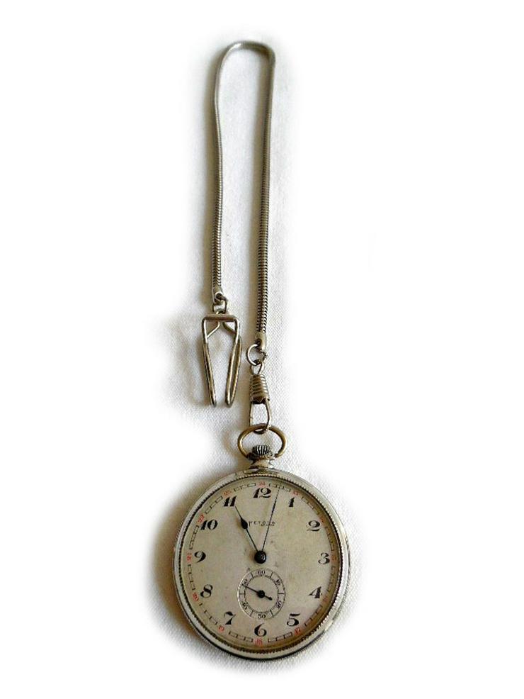 Silberne Taschenuhr von Metoda